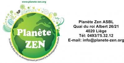 Logo planete zen bandeau avec coordonees