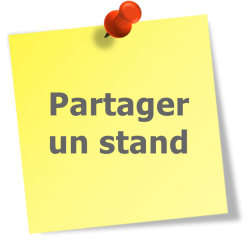 Post it yellow partager un stand